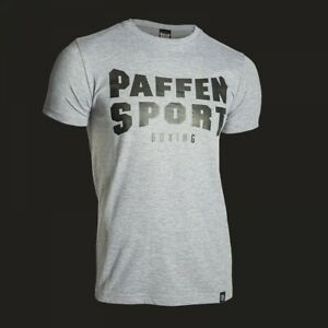 Paffen Sport Grau Melange Logo T-Shirt, S-XXL. Kampfsport, Boxen, Kickboxen, MMA