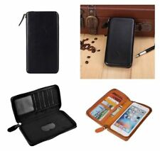 for HTC RADAR 4G FOR T-MOBILE Black Executive Wallet Pouch Case with Magnetic...