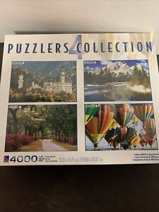 4 Puzzlers Collection Puzzles 1000 Pieces Each. New In Unopened Box