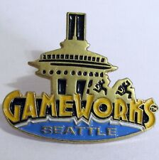 Gameworks Seattle Space Needle Enamel Metal Lapel Hat Pin