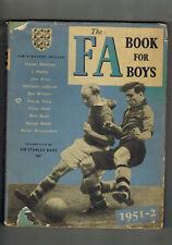 THE FA BOOK FOR BOYS 1951-52  in dustwrapper