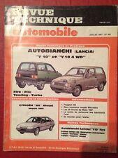 Revue Technique Automobile AUTOBIANCHI LANCIA Y10 et Y10 4 WD