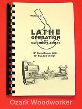 "Atlas Craftsman Manual of Lathe Operation Book for 12"" Crossfeed Pull-Knob 0034"