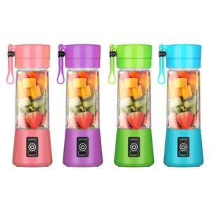 6 Blade Portable Blender USB Rechargeable Juicer Cup Mixer Fruit Maker Shaker
