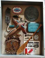 primitive antiques cabin decor shadowbox Hunting Fishing cabin