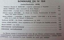 REVUE DE L'INSTITUT NAPOLEON 1972 No 124 WATERLOO MANUSCRIT BARON BIGNON CAMPAN