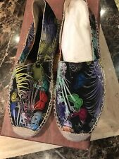 NEW Etro Paisley pattern Canvass Shoes size 40 Eur