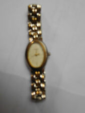 Ladies Two-Tone Guess Watch Oval Face & with Original Band  - Preowned
