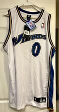 GILBERT ARENAS Autographed Wizards Authentic NBA Jersey Adidas Signed White 52