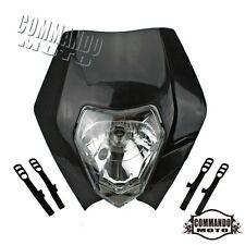 New Off Road Dirtbike Enduro Front Black Headlight For Honda Yamaha Suzuki Ktm