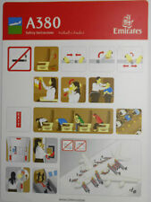 Airlines safety card - Emirates A380