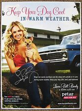 Signed LAURA BELL BUNDY POSTER In-Person Autograph w/proof PETA Keep Dog Cool