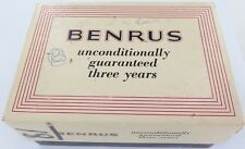 SCARCE VINTAGE BENRUS 17J SELF-WINDING OUTER DISPLAY BOX. 14 x 9 x 6cms HIGH.