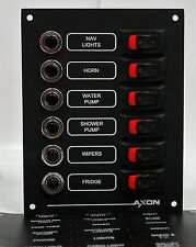 6 Way Marine Circuit Breaker & Switch Panel