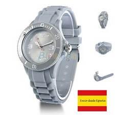 Reloj de pulsera unisex casual silicon jelly GRIS