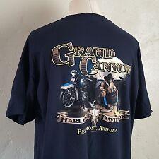 Harley Davidson ~ Navy Blue T Shirt ~ Grand Canyon ~ Motorcycle/Cowboy ~ XXL