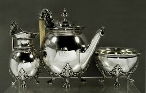 Gorham Silver Tea Set            1879 CLASSICAL