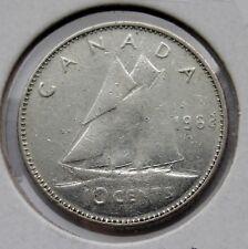 CANADA - 10 CENTS 1968 ELIZABETH II - SILVER - CIRC. - (C741)