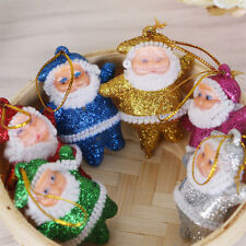 6PCS Colorful Chrismas Tree Decorations Santa Claus Pendant Christmas Ornaments
