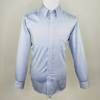 Chaps Men's Light Blue Classic Fit Non iron Pocket Button Down Shirt 16 34/35