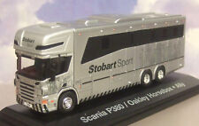 "SUPERB ATLAS/OXFORD 1/76 EDDIE STOBART SPORT SCANIA P380 OAKLEY HORSEBOX ""ALLY"""