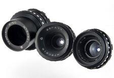 Set 3 lenses lens Kiev16U camera Mir11m Vega7-1 Tair41m BlackMagic Pocket BMPCC
