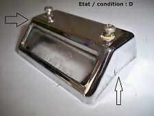 CITROËN GS GSA - Cabochon feu plaque immatriculation SEIMA 864 (chromé)