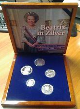 "Niederlande Gedenkmünzenset 1980 - 2005 ""Beatrix in Silber IN LUXE HOUTEN BOX"