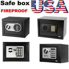 Digital Steel Electronic Password Box Security Home Office Money Cash Safety Box