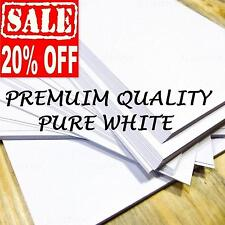 100 SHEETS A4 SMOOTH WHITE 140gsm PAPER PRINTER CRAFT BUSINESS DECOUPAGE CARD UK