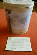 PRESIDENT'S CLUB MEMBER 2001--AVON TIN--THE EARLY YEARS--HISTORY of AVON ON BACK