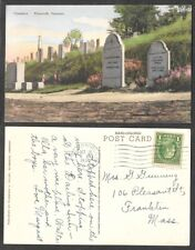 1939 Postcard - Plymouth, Vermont - Grave of President Calvin Coolidge