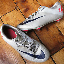 Nike Mercurial Victory 2 II Boys Football Boots UK size 5 Turf Studs Silver Pink