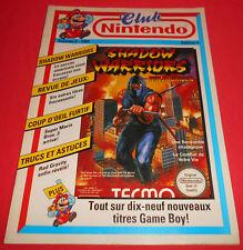 Magazine CLUB NINTENDO [Vol 3 1991 Ed 5] Shadow Warriors Mario 3 NES Game Boy