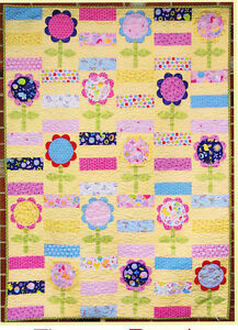 Flower Patch - fun pieced and applique quilt PATTERN - Two Brown Birds