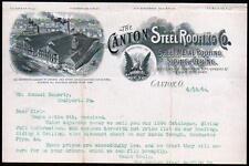 1894 Canton Steel Roofing Co Ohio Sheet Metal Siding Vintage Letter Head Rare