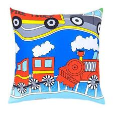 Transport Design Children's Kids Filled Scatter Cushion with Zip Cover Bedroom