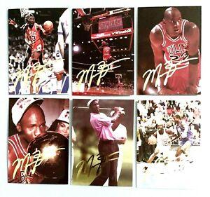 """"""" Rare """" Michael Jordan 1993 Dédicacé 6 Carte Ensemble Lot ! Ltd À 10,000"""