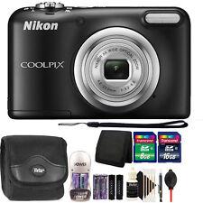 Nikon COOLPIX A10 16.1 MP Compact Digital Camera (Black) with 24GB Bundle