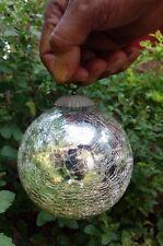 9 X 9 X 10 Cm Kugel Lamp Silver Heavy Glass Original Vintage Halloween Home Art