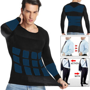 Men Slimming Body Shaper Tank Top Tummy Control Shapewear Compression Shirt Vest