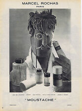 PUBLICITE ADVERTISING 084 1952 MARCEL ROCHAS Moustache eau de Cologne