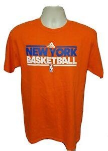 Adidas NBA New York Basketball Adult Medium Orange TShirt