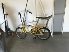 "1960's RARE Huffy Super Sport 1 Rail Banana Seat Muscle Bike 24"" Yellow Vintage"