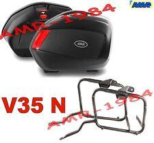 SET MALETAS V35 NEGRO + MARCO HONDA CB 500 X 2013 PAR BOLSAS V35N + PLX1121