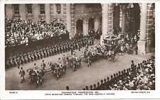 Aerial-Coronation Procession 1911-King George V-Royalty-RPPC-Real Photo Postcard
