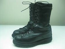 BLACK DISTRESSED MATTERHORN LACE UP LEATHER MILITARY COMBAT WORK BOOTS SIZE 6W