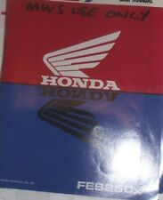 HONDA FES250X SUPPLEMENTARY SERVICE MANUAL 1981