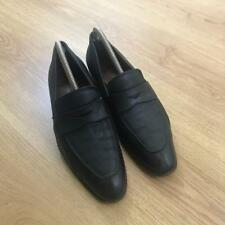 Churchs Made in England Black Leather Pointed Toe Penny Loafers Size 7