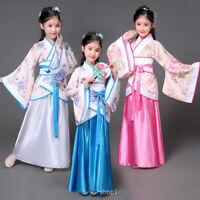 Halloween costume for kids traditional chinese dance dress ancient costume hanfu